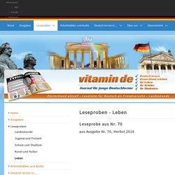 Leseprobe aus Nr. 70 - Deutsch lernen mit vitamin de