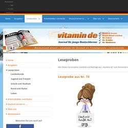 Leseproben - Deutsch lernen mit vitamin de