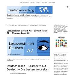 Leseverstehen Deutsch A2 - Deutsch lesen A2 - Übungen Lesen A2