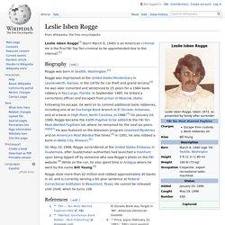 Leslie Isben Rogge - Wikipedia
