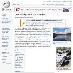 LHWP. Page Wikipedia (en anglais)