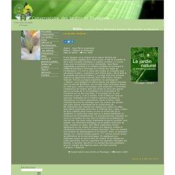 Le jardin naturel, de Jean-Marie Lespinasse, édition Editions du Rouergue