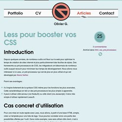 Less pour booster vos CSS