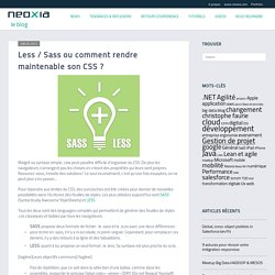 Less / Sass ou comment rendre maintenable son CSS ?