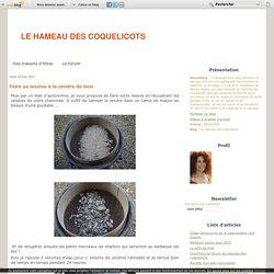 Faire sa lessive à la cendre de bois - Le Hameau des Coquelicots