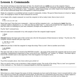 Lesson 1: Commands