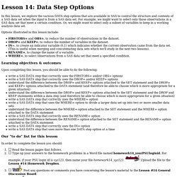 Lesson 14: Data Step Options