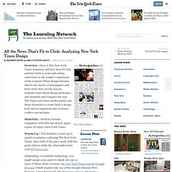 All the News That's Fit to Click: Analyzing New York Times Design