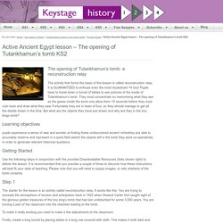 Fun lesson on Ancient Egypt with plan and resources