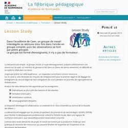 Lesson Study - La f@brique pédagogique