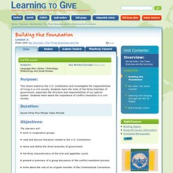 Lesson Plan - Building the Foundation
