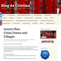 Lesson Plan: Cities,Towns and Villages