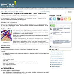 Lesson Plan on Creating a Career Brochure