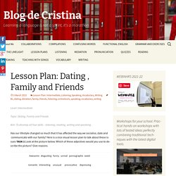 Lesson Plan: Dating , Family and Friends