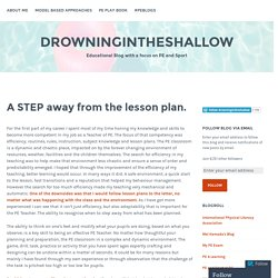 A STEP away from the lesson plan. – drowningintheshallow