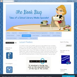The Book Bug: Lesson Freebies
