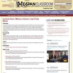 Lesson Idea: Media Literacy and Fake News