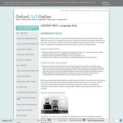 LESSON TWO: Language Arts in Oxford Art Online