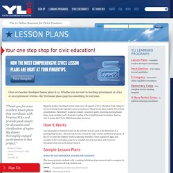Lesson Plans – Youth Leadership Initiative