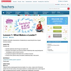 Lesson 1: What Makes a Leader?