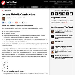 Lesson: Melodic Construction