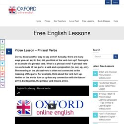 Video Lesson - Phrasal Verbs
