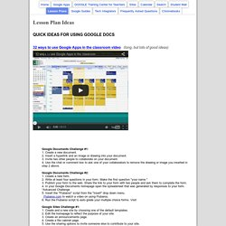 Lesson Plan Ideas - IntegratorsGoogleResources
