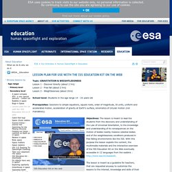 Lesson plan for use with the ISS Education Kit on the web / Education