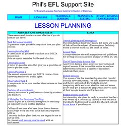 Tefl lesson plan