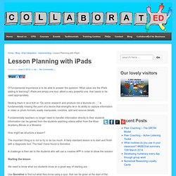 Lesson Planning with iPads