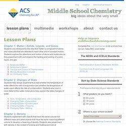 Chemistry - ACS Lesson Plans