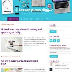 Lesson Plans Archives - Lesson Plans Digger