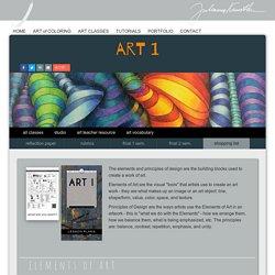 Art 1. Lesson plans for beginner Art program.