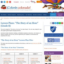 """Lesson Plans: """"The Story of an Hour"""" (Grade 8)"""