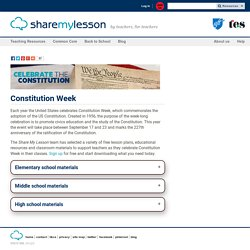 Lesson Plans on the U.S. Constitution - Lesson Plans