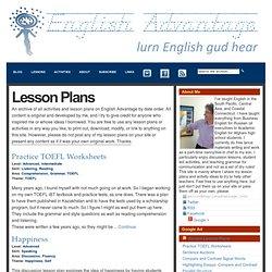 Lesson Plans : English Advantage