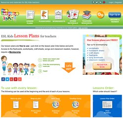 Lesson Plans for ESL Kids Teachers