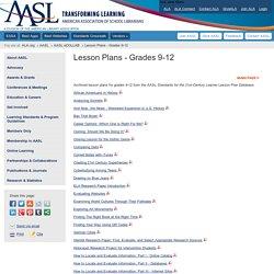 Lesson Plans - Grades 9-12