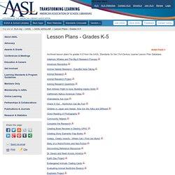 Lesson Plans - Grades K-5