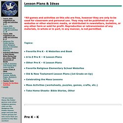 Lesson Plans & Ideas