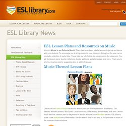 ESL Lesson Plans and Resources on Music