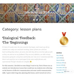 lesson plans – Side Notes on ELT