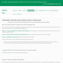 Lesson Plans - Welcome to Willis ELT