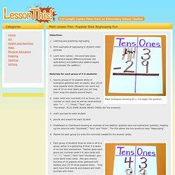Math Lesson Plan - Popsicle Stick Regrouping Fun