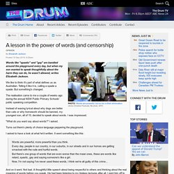 A lesson in the power of words (and censorship) - The Drum