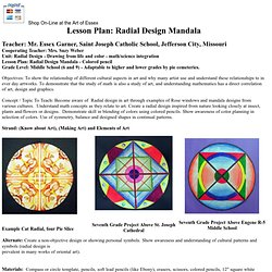 Lesson Plan Radial Design Mandala