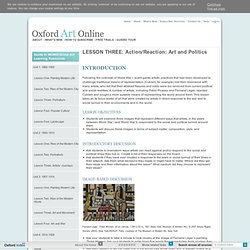 LESSON THREE: Action/Reaction: Art and Politics in Oxford Art Online
