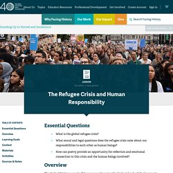 Lesson: The Refugee Crisis and Human Responsibility
