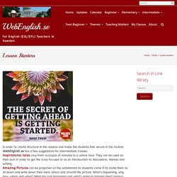 Lesson Starters – WebEnglish.se