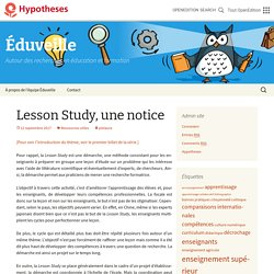 Lesson Study, une notice
